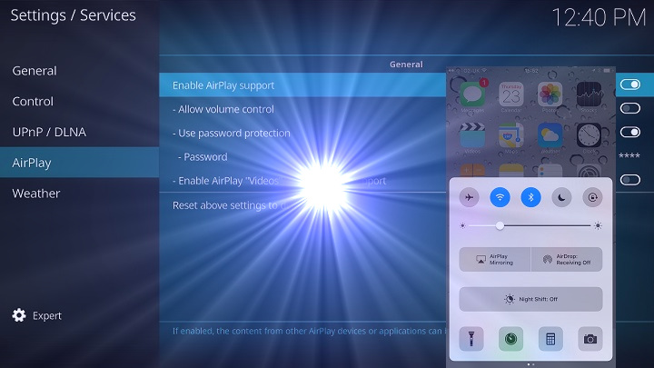 Activating Airplay in Kodi