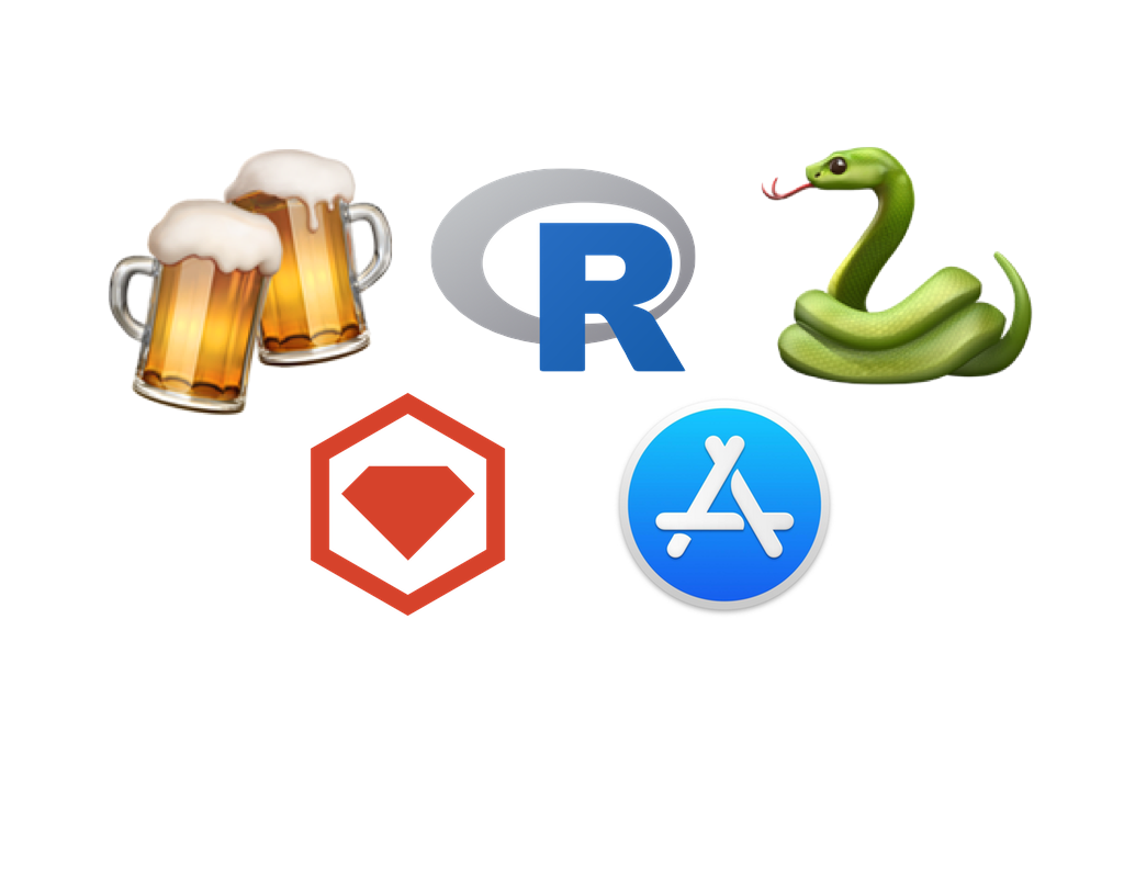 Updating Homebrew, R and Python pip packages + Ruby Gems +