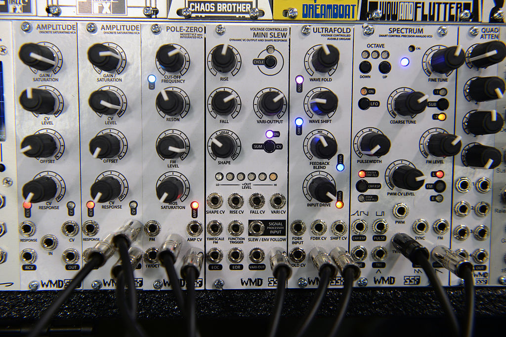 Tuning-Up Audio. Source: [Wikimedia Commons](https://commons.wikimedia.org/wiki/File:SSF_WMD_Modules_-_2014_NAMM_Show.jpg)