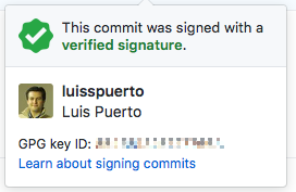 Verified Signature in GitHub