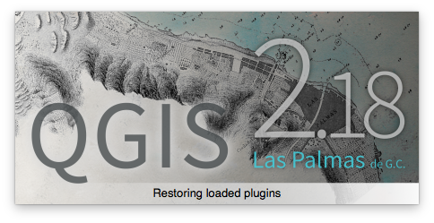 QGIS 2.18.17 splash screen