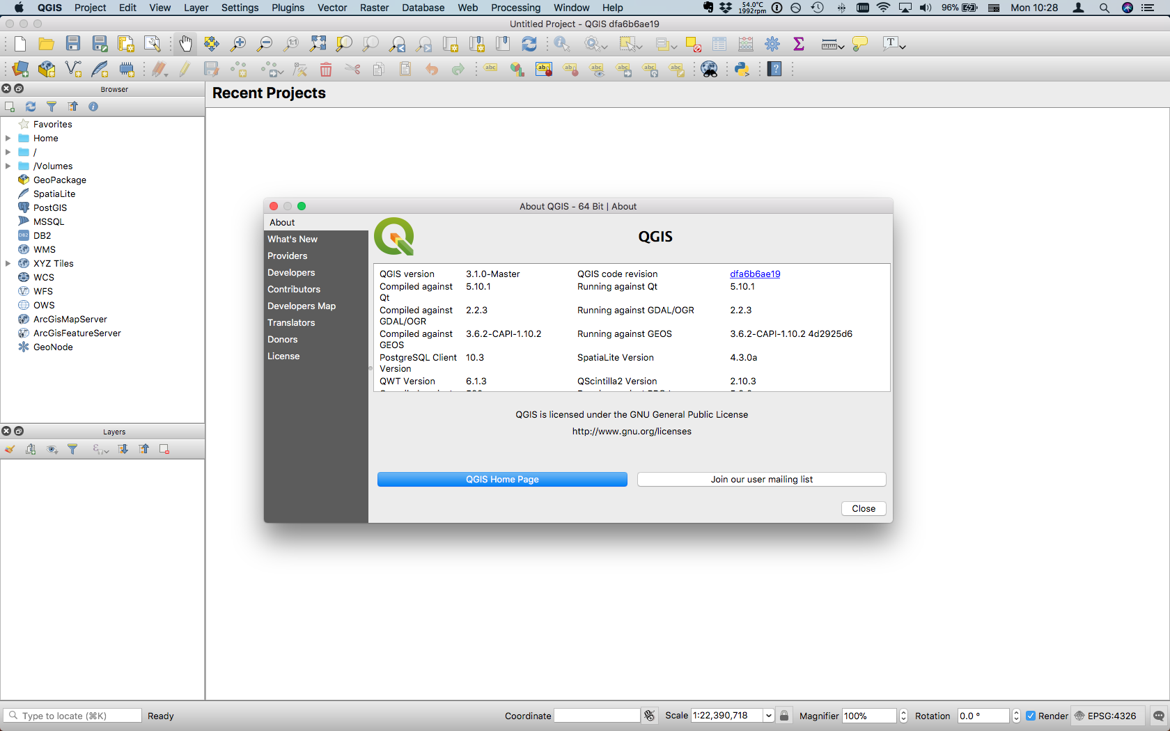 QGIS 3 interface