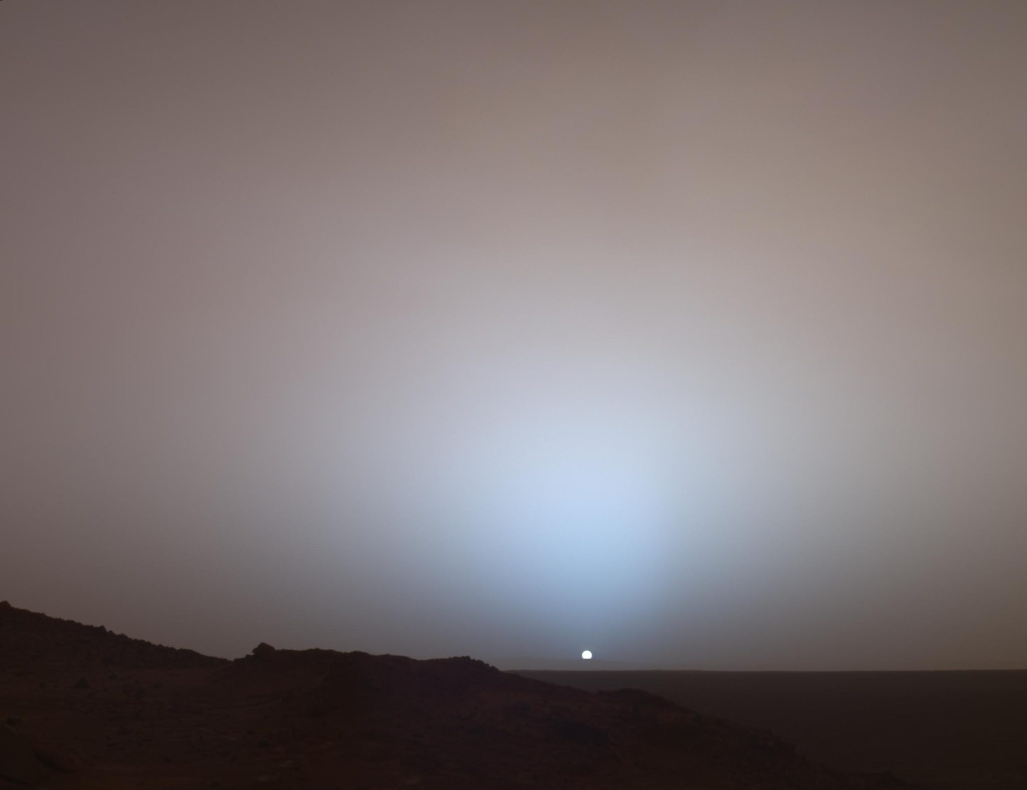 Sunset on Mars, source [NASA](https://www.nasa.gov/multimedia/imagegallery/image_feature_347.html) and Astronomy Picture of the Day.