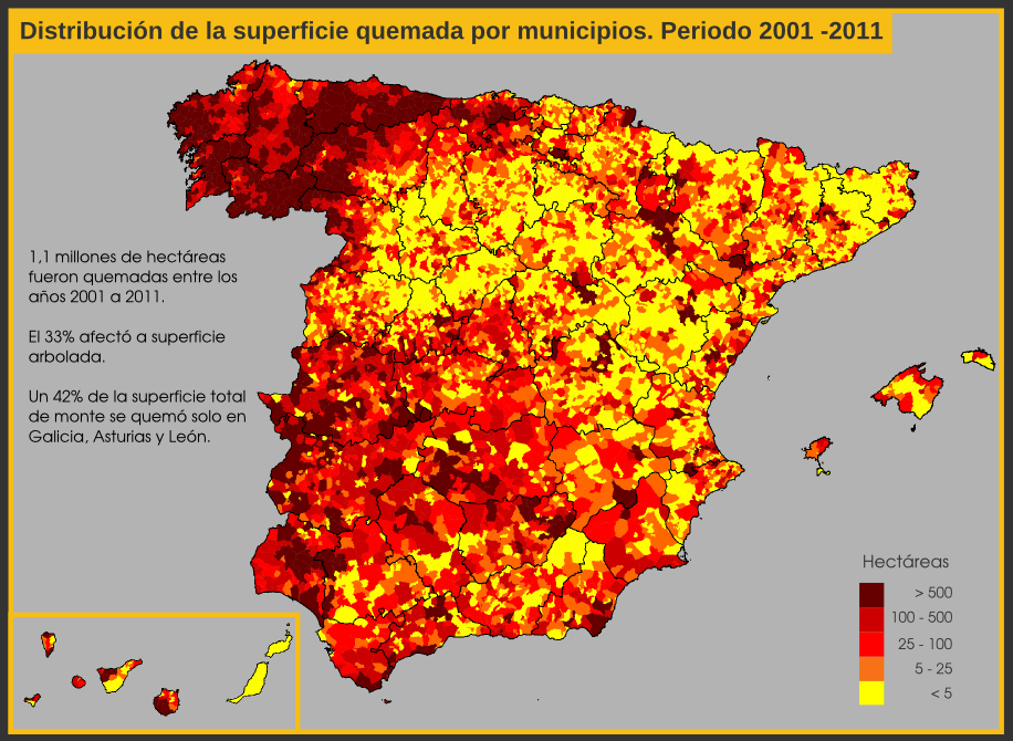 Wildfires in Spain